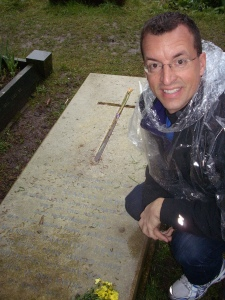 Steve at CS Lewis' Grave